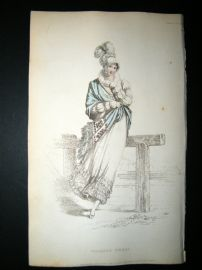 Ackermann 1815 Hand Col Regency Fashion Print. Walking Dress 14-4